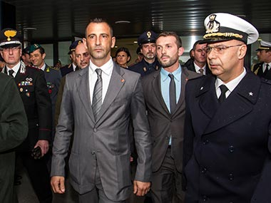 File image of Italian marines Salvatore Girone and Massimiliano Latorre. AP