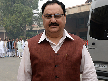 Union Health Minister JP Nadda. AFP
