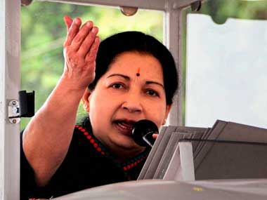 File photo of J Jayalalithaa. PTI