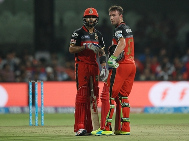 RCB captain Virat Kohli (left) and AB de Villiers have been in red-hot form in the tournament so far. Sportzpics/IPL
