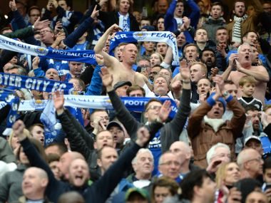 Leicester City fans. AFP