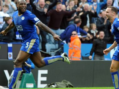 Leicester City centre-back and captain Wes Morgan. AP