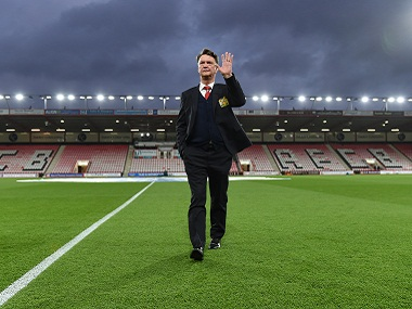 Former Manchester United manager Louis van Gaal before following the club's last Premier League match at Bournemouth. Reuters