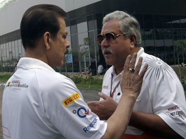 Subrata Roy and Vijay Mallya in a file photo