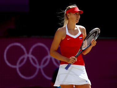 file photo of Maria Sharapova of Russia at the London Olympics in 2012. Getty
