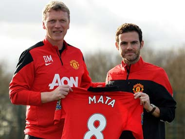 David Moyes brought Juan Mata to Old Trafford in 2013. AFP