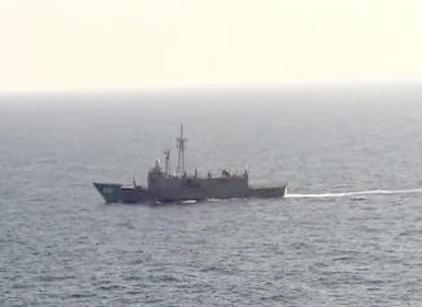 In this video image released by the Egyptian Defense Ministry, an Egyptian ship searches in the Mediterranean Sea for the missing EgyptAir flight 804 plane which crashed after disappearing from radar early Thursday morning while carrying 66 passengers and crew from Paris to Cairo. The Egyptian army said Friday, May 20, 2016 that it has found wreckage of the missing flight. AP.