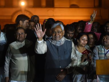 A file photo of Nitish Kumar. AFP