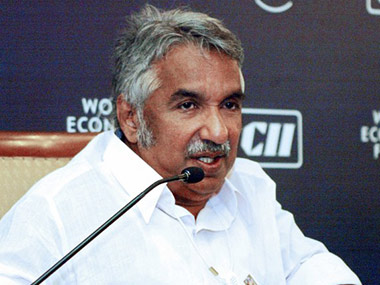 File photo of Oommen Chandy. AFP