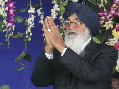 Punjab's Chief Minister Parkash Singh Badal in a file photo. Reuters