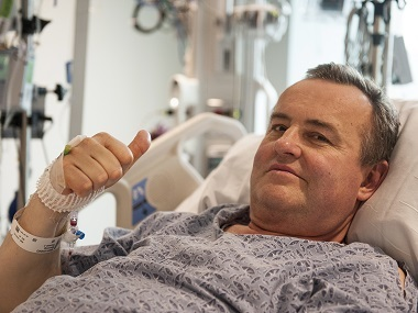 File image of Thomas Manning, following the first penis transplant in the United States. AP