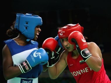 File photo of Pooja Rani (Red) of India. Getty Images