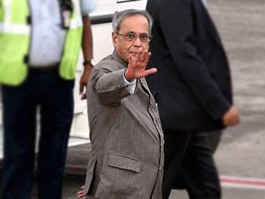 A file photo of Pranab Mukherjee. PTI