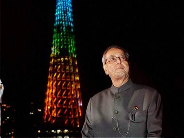 Pranab Mukherjee in China