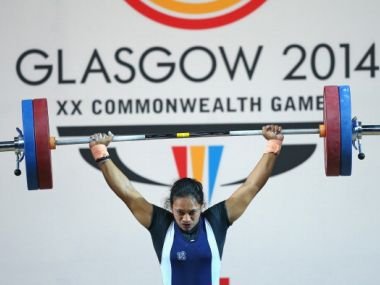 File photo of Punam Yadav winning bronze in the Women's Weightlifting 63kg category at the 2014 Commonwealth Games. Getty