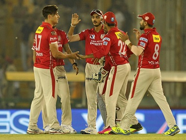 Kings XI Punjab players celebrate a wicket. BCCI