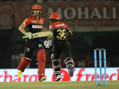 AB de Villiers and Sachin Baby of RCB had a vital fourth-wicket partnership. BCCI