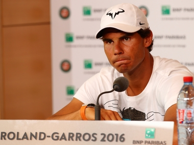 Rafel Nadal announces his withdrawal from the ongoing French Open due to wrist injury. Getty