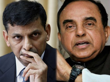 RBI governor Raghuram Rajan and Subramanian Swamy