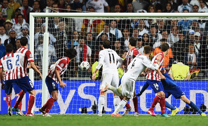 Sergio Ramos headed home to equalise late for Real Madrid at the 2014 Champions League final. Getty