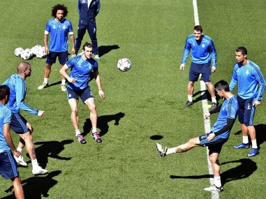 File photo of Real Madrid training. AFP