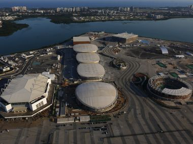 An aerial view of the 2016 Rio Olympic park. Reuters