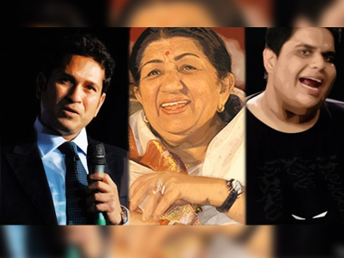 Tanmay Bhat's Snapchat video featured a face-off between Sachin Tendulkar and Lata Mangeshkar. Images from News18