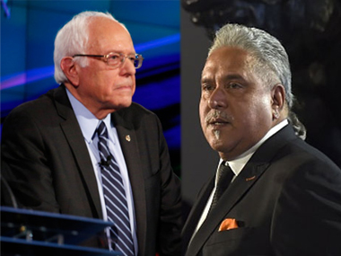Bernie Sanders (left) and Vijay Mallya. IBNLive