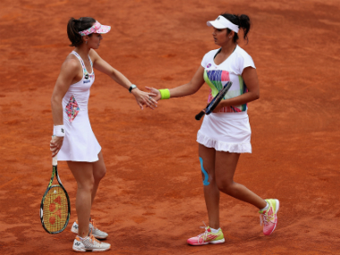 File photo of Martina Hingis and Sania Mirza (right). Getty Images