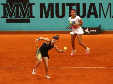 File photo Martina Hingis and Sania Mirza (right). Getty Images