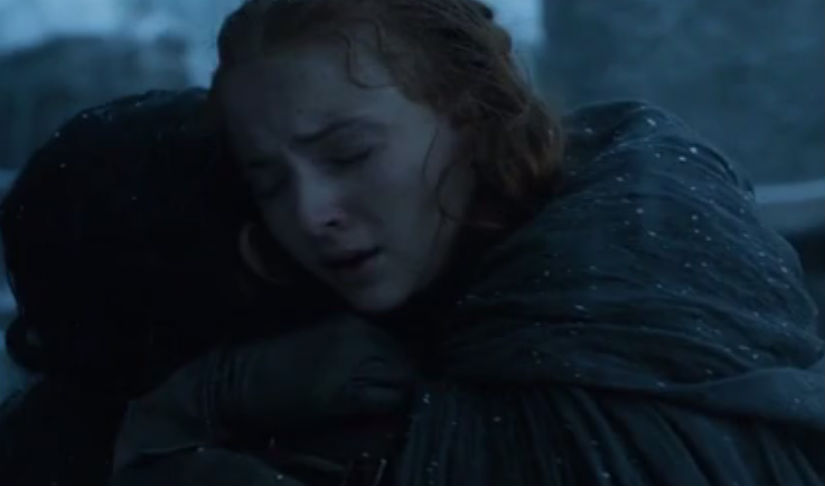 Sansa and Jon Snow, the Starks, well two of them reunite. All is well.