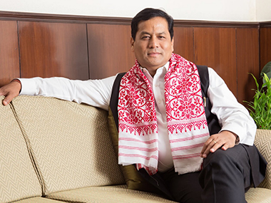 A file photo of Sarbananda Sonowal. Picture credit: Twitter, @sarbanandsonwal