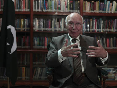 Sartaj Aziz, Pakistani Prime Minister Nawaz Sharif's adviser on foreign affairs. Reuters