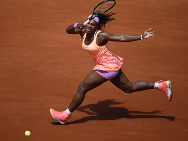 File photo of Serena Williams at French Open. AFP