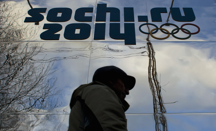 The Olympic logo in Sochi during the Winter Games in 2014. Reuters
