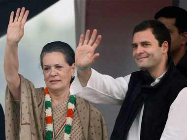 Sonia and Rahul Gandhi. PTI