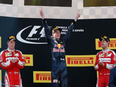 The Spanish GP podium. AP