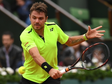 Stan Wawrinka in action during his fourth round win over Viktor Troicki. Getty