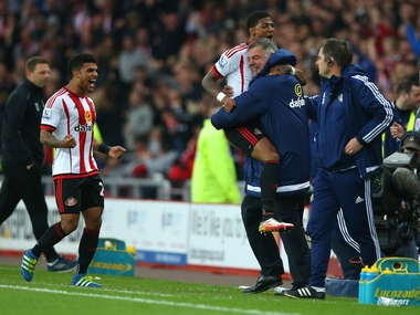 Sunderland thumped Everton 3-0 to stay up and send bitter Tyne-Wear rival Newcastle under. Getty