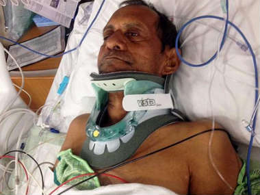 Sureshbhai Patel had been brutally assaulted by an American police officer.