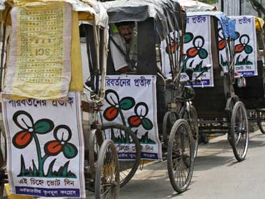 As counting of votes progressed, TMC remained ahead of its rivals leading in 212 seats, whereas the Congress-Left combine is ahead in 68 seats and BJP in seven.