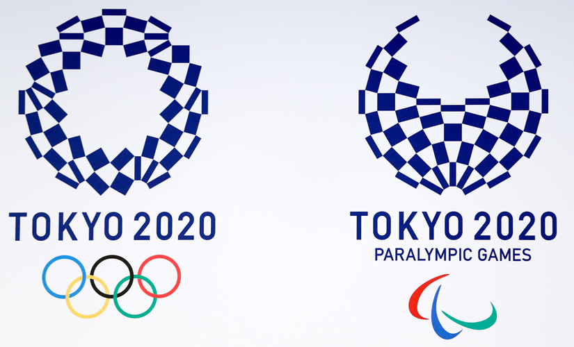 The emblem designs for Tokyo 2020 (L) and Tokyo 2020 Paralympic Games (R). Getty Images