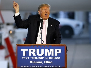 Almost there: Republican presidential candidate Donald Trump. AP