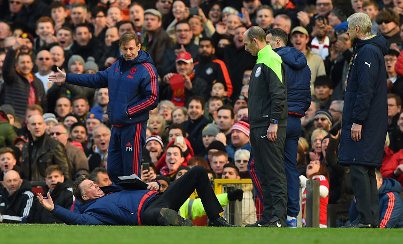 The big fall from grace: The lack of Champions League football next season is set to intensify murmurs about the future of Louis van Gaal with the club. Getty
