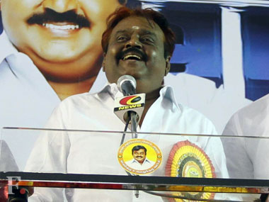 DMDK chief Captain Vijayakanth. Image courtesy: Firstpost