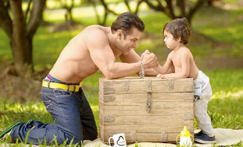 Salman with his nephew Yohan, from a previous Being Human campaign