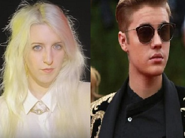 Casey Dienel; Justin Bieber. Images from YouTube, News18