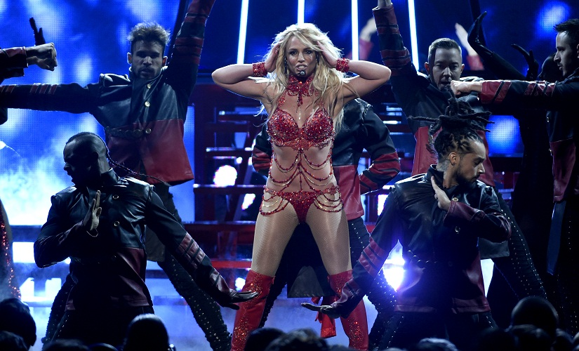 Britney Spears performs at the Billboard Music Awards at the T-Mobile Arena on Sunday, 22 May, 2016, in Las Vegas. Image from AP