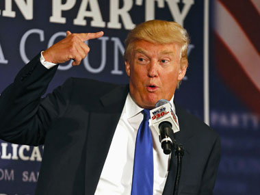 Donald Trump mocked on Twitter for tech remark. File photo. Reuters
