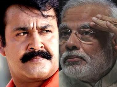 #PoMoneModi is coined from one of Mohanlal's (Left) famous one-liner